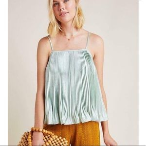 Anthropologie   pleated Ryder cami